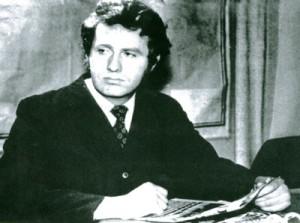 Жириновский за столом в молодости